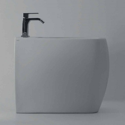 Modern design bidet in white ceramic Gais, produced in Italy