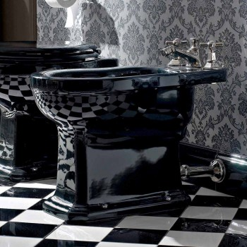 Bidet in White or Black Classic Ceramic from the Ground Made in Italy - Marwa