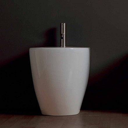 Modern ceramic bidet Shine Square Rimless 54x35cm made in Italy