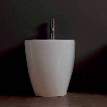 Modern ceramic bidet Shine Square Rimless 54x35cm made in Italy