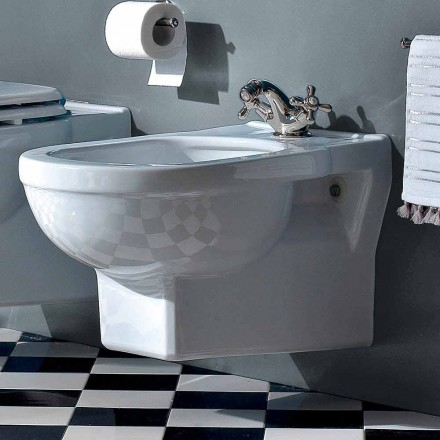 Classic Single-Hole Bidet in White Ceramic Made in Italy - Marwa