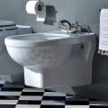 Classic Single-Hole Bidet in White Ceramic Made in Italy - Marwa