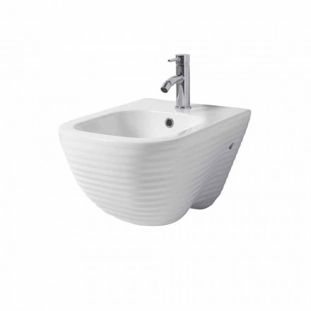 Design suspended bidet in ceramic Made in Italy Trabia
