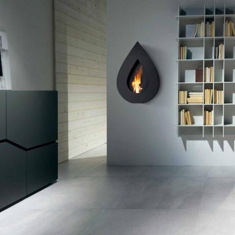 Biocamino Modern Wall bioethanol to Joseph flame shape