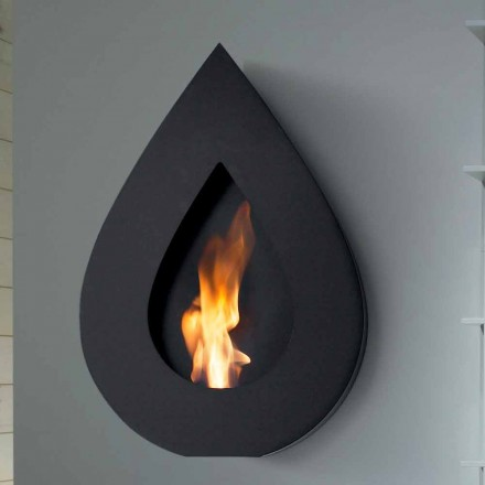 Modern design wall mounted bio ethanol fireplace Joseph, made in Italy