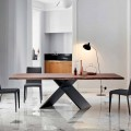Bonaldo Ax wooden dining table with live edge, made in Italy