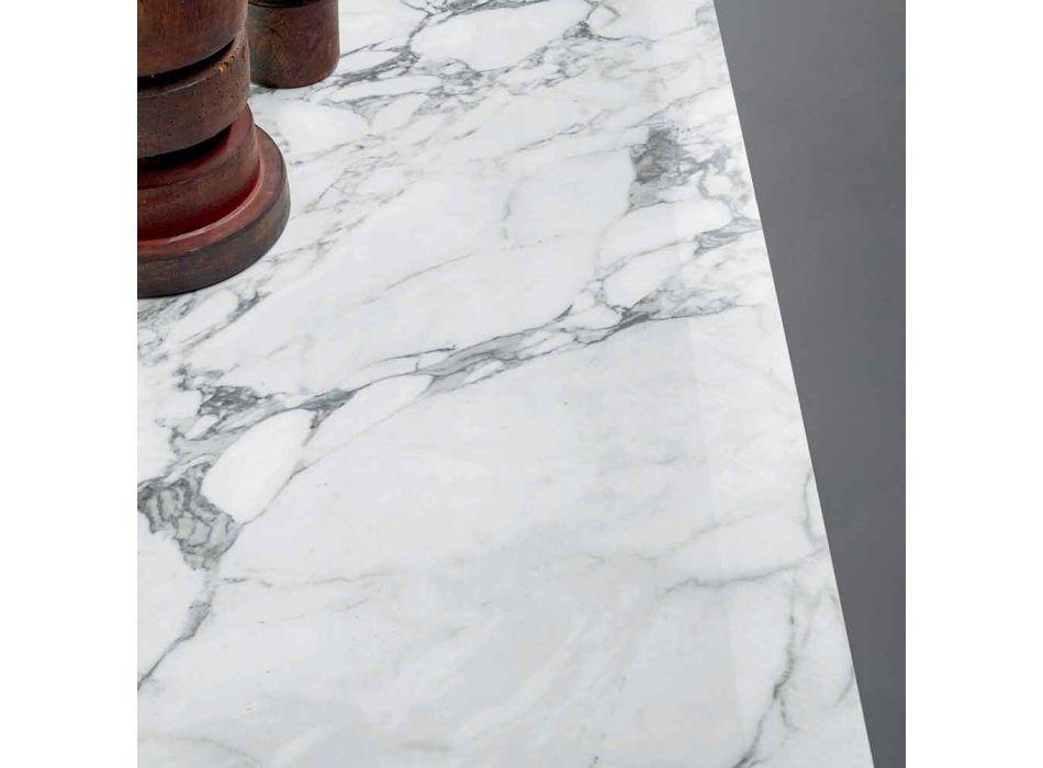 Bonaldo Ax flat design table in ceramic metal base made in Italy