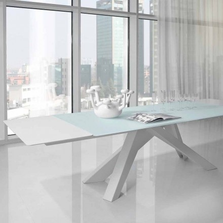 Bonaldo Big Table dining table with crystal top, made in Italy
