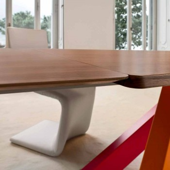 Bonaldo Big Table extensible wood veneer table made in Italy