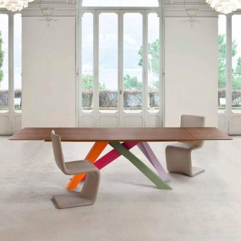 Big Table Bonaldo Allungabile.Bonaldo Big Table Extending Table With Wood Veneer Top Made In Italy