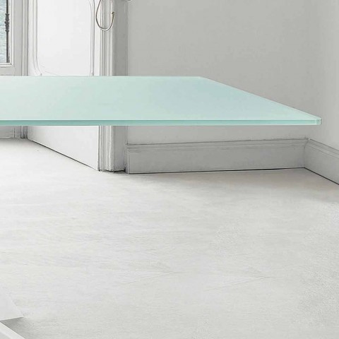 Bonaldo Big Table extra-clear glass table made in Italy
