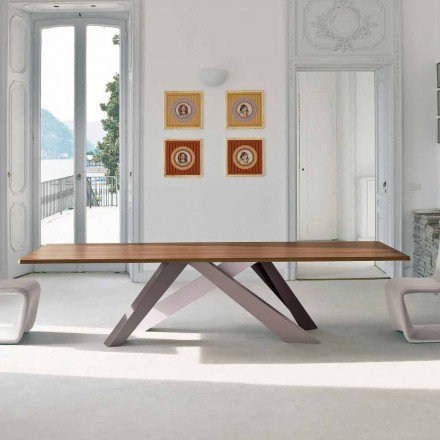 Bonaldo Big Table dining table with wood veneer top, made in Italy