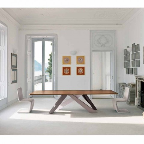 Bonaldo Big Table veneered wood table made in Italy design