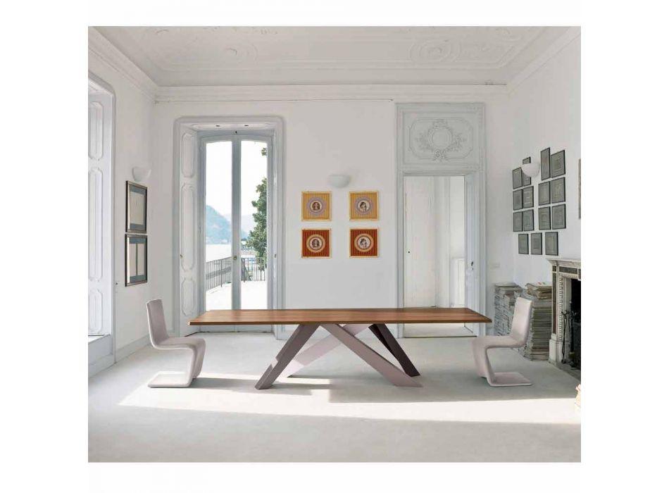 Bonaldo Big Table veneered wood table made in Italy design