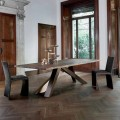 Bonaldo Big Table solid wood table with live edge, made in Italy