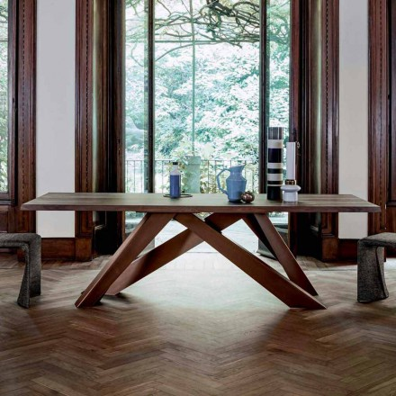 Bonaldo Big Table solid wood dining table made in Italy, modern design