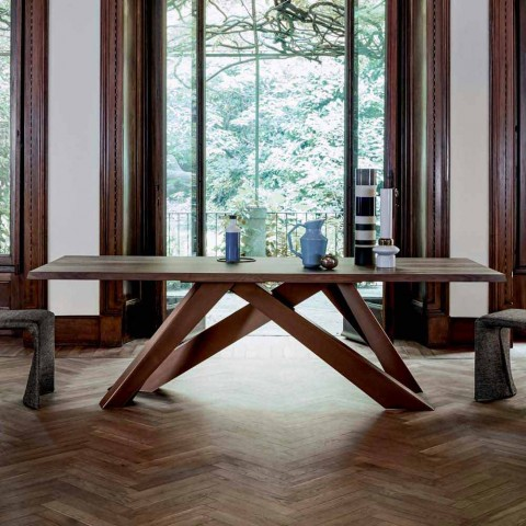 Bonaldo Table Solid Wood Dining Made In Italy Modern Design