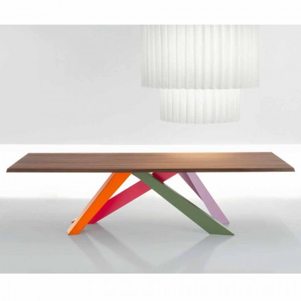 Bonaldo Big Table table with solid American walnut top, modern design