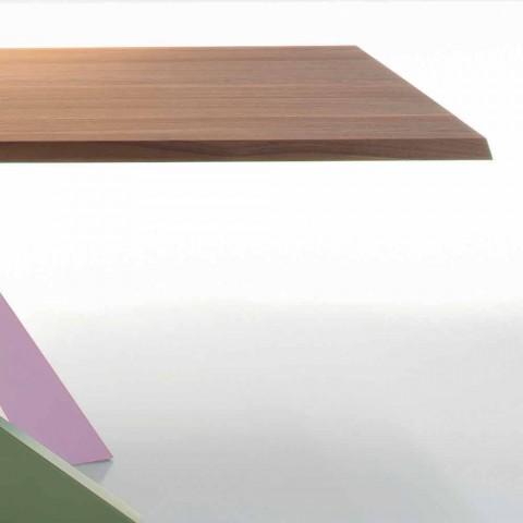 Bonaldo Big Table solid american walnut wood table made in Italy