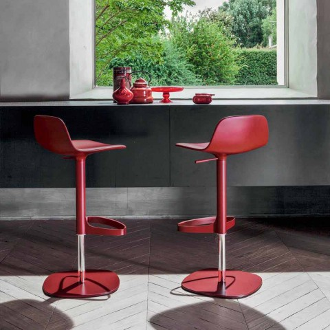 Bonaldo Bonnie swivel adjustable steel stool made in Italy Bonnie