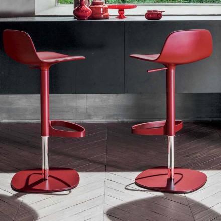 Bonaldo Bonnie steel adjustable swivel stool Bonnie made in Italy