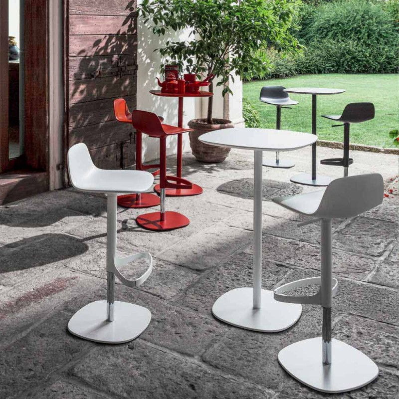 Bonaldo Clyde design high table with wooden top made in Italy