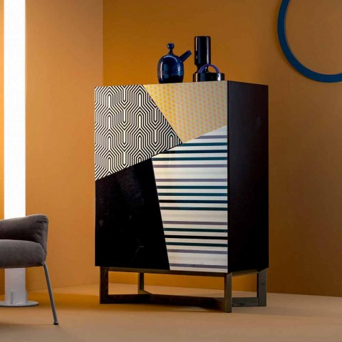 Bonaldo Doppler solid wood design sideboard 128x90cm made in Italy