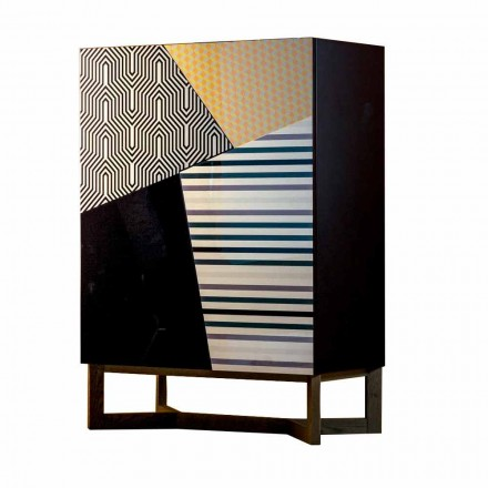 Bonaldo Doppler design sideboard 128x90cm solid wood made in Italy
