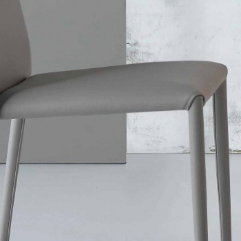 Bonaldo Eral modern design chair upholstered in leather made in Italy