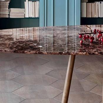 Bonaldo Greeny round table design marble Emperador made Italy