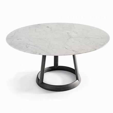 Bonaldo Greeny round table with Carrara marble top, made in Italy