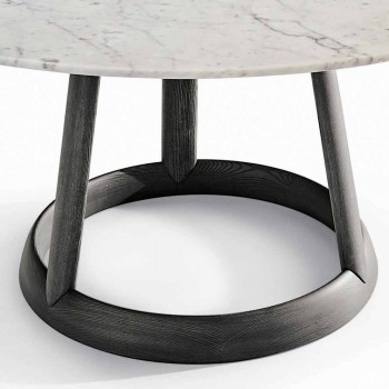 Bonaldo Greeny round table design Carrara marble floor made in Italy
