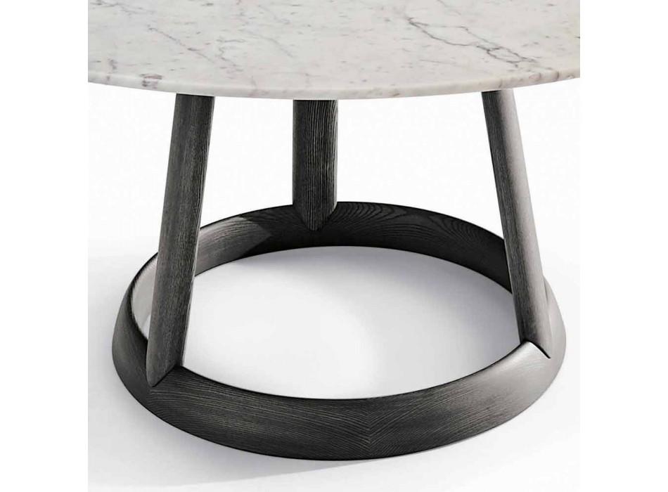 Bonaldo Greeny round table design Carrara marble floor made in Italy