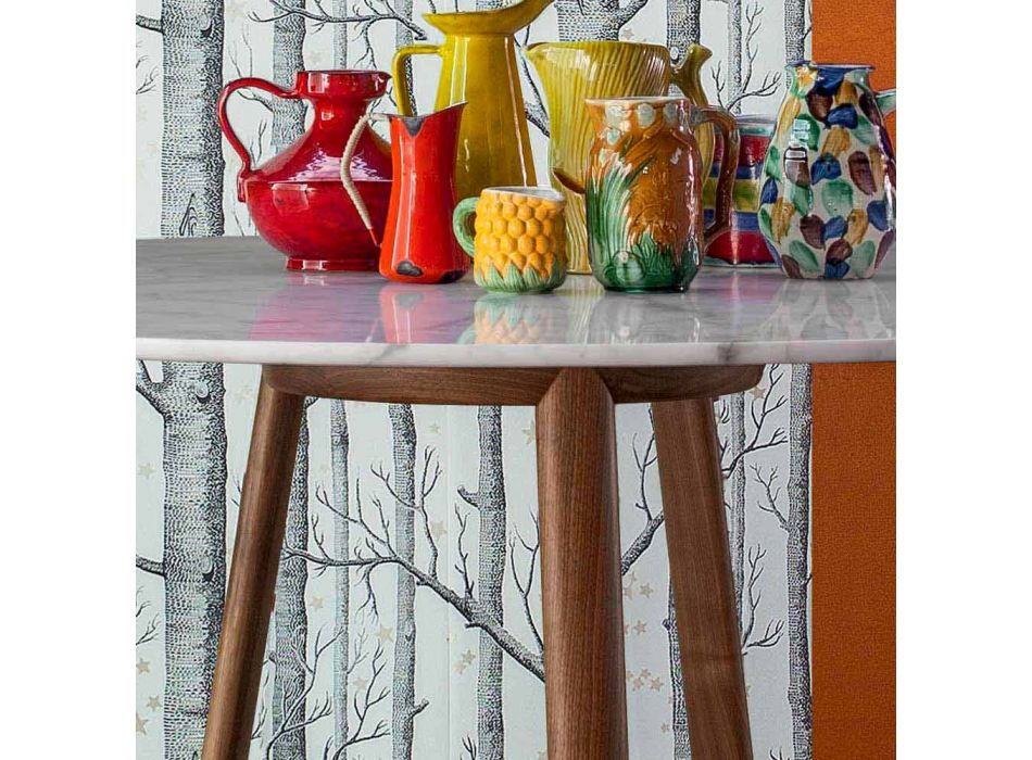 Bonaldo Greeny round table Calacatta marble floor made in Italy