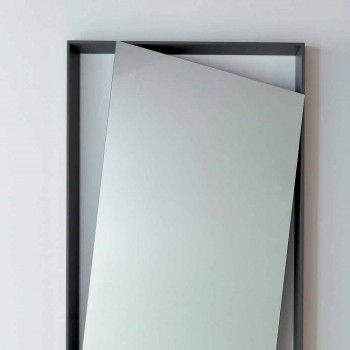 Bonaldo Hang mirror wall lacquered wood design H185cm made in Italy