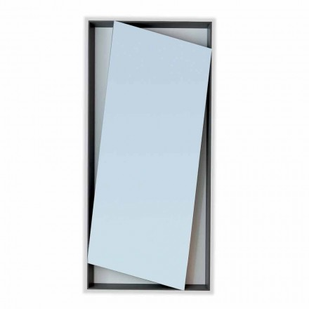 Bonaldo Hang design wall mirror in lacquered wood H185cm made in Italy