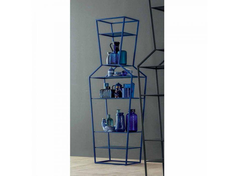 Bonaldo June colored metal bookcase of design H190xL70cm made in Italy