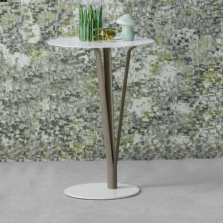 Bonaldo Kadou painted steel side table Ø 39 cm, made in Italy