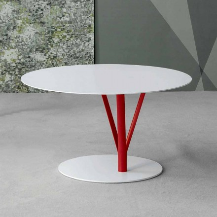 Bonaldo Kadou painted steel side table Ø 70 cm, made in Italy