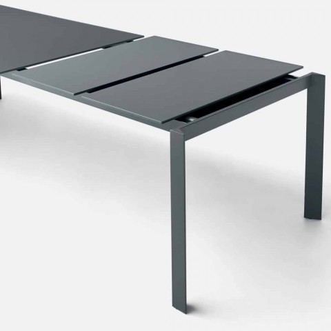 Bonaldo Menù extensible anthracite table top made in Italy
