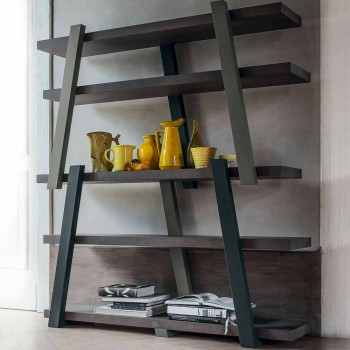 Bonaldo Note modern design wooden bookcase H173xL155cm made in Italy