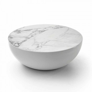 Bonaldo Planet design ceramic table Calacatta made in Italy