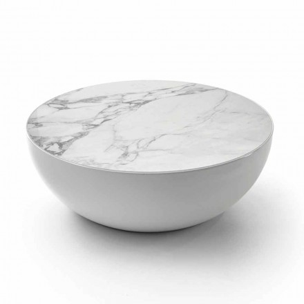 Bonaldo Planet coffee table made of Calacatta ceramics, modern design