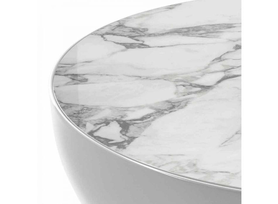 Bonaldo Planet design ceramic table Calacatta made in Italy