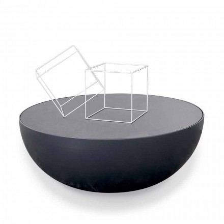 Bonaldo Planet etched crystal coffee table,modern design made in Italy
