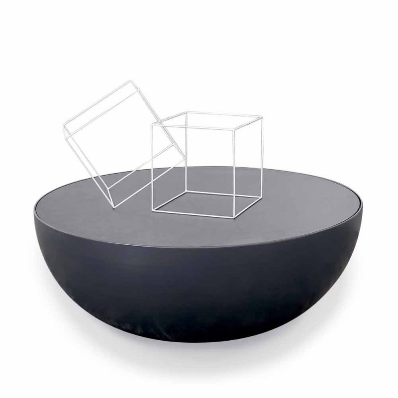 Bonaldo Planet design coffee table in etched glass made in Italy