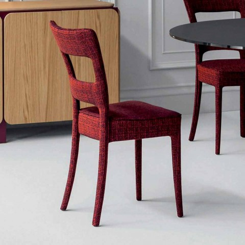 Bonaldo Sheryl chair in modern design padded fabric made in Italy