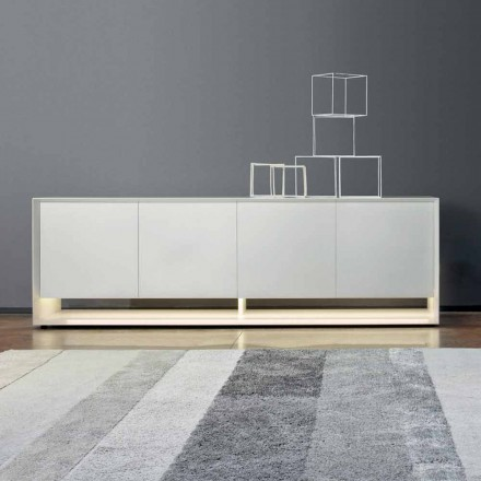 Bonaldo Sunrise design sideboard in lacquered wood H72xL240cm made in Italy