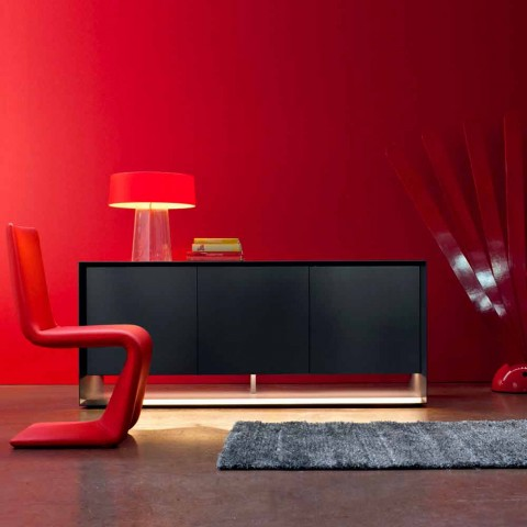 Bonaldo Sunrise design lacquered wood sideboard H72xL180cm made in Italy