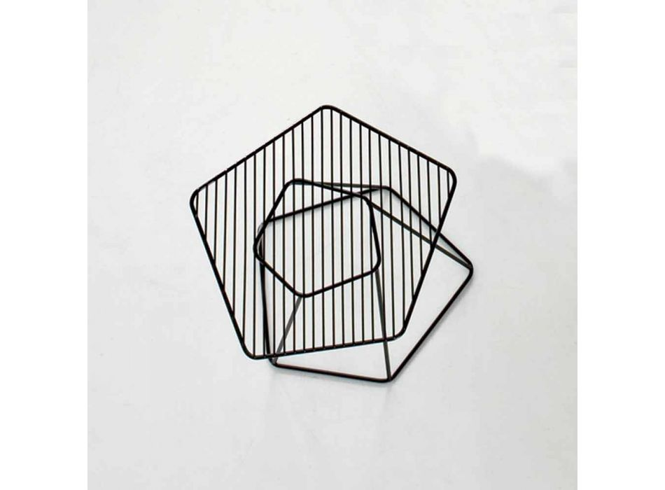 Bonaldo Tectonic design coffee table painted steel wire made in Italy